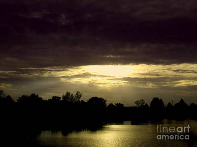 Photograph - Shimmering Shadow Sunset by Scott B Bennett
