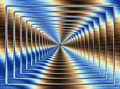 Digital Art - Shimmering Steel 3 by Will Borden