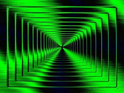 Digital Art - Shimmering Steel 5 by Will Borden