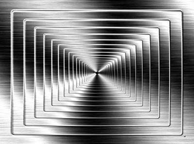 Digital Art - Shimmering Steel by Will Borden