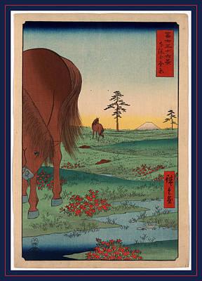 Color Field Drawing - Shimosa Koganehara by Utagawa Hiroshige Also And? Hiroshige (1797-1858), Japanese