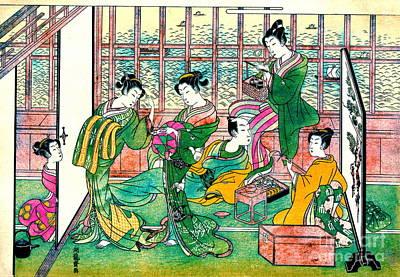 Shinagawa Brothel 1774 Art Print