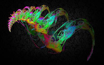 Fractal Digital Art - Shine Bright by Betsy Jones