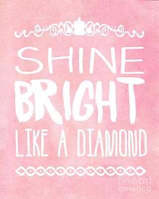 Rihanna Digital Art - Shine Bright by Pati Photography