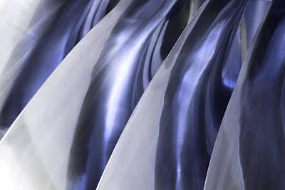 Shine On Metal - Blue Tones Art Print by Natalie Kinnear