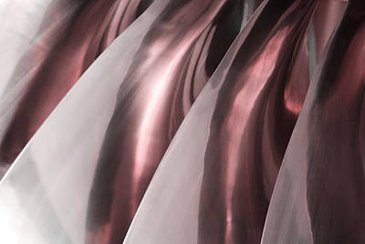 Shine On Metal - Burgundy Tones Art Print by Natalie Kinnear