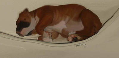 Shiner Painting - Shiner Baby by Nydia Williams
