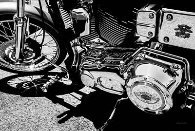 Shines On - 100th Anniversary Harley Davidson Art Print