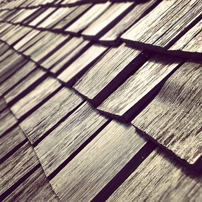 Abstract Photograph - Shingles by Christy Beckwith