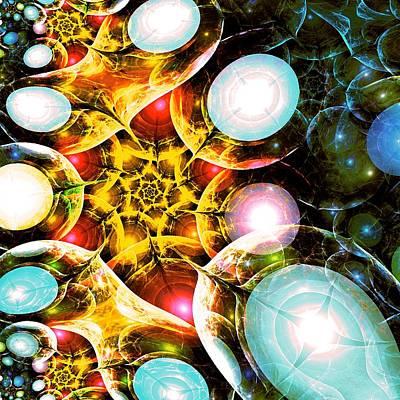 Shiny Digital Art - Shining Colors by Anastasiya Malakhova