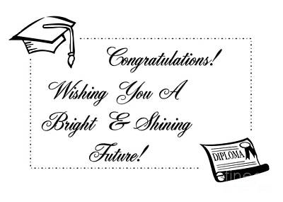 Digital Art - Shining Future Grad by JH Designs