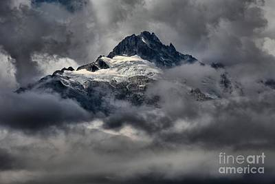 Photograph - Shining Glaciers by Adam Jewell