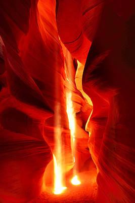 Lower Antelope Canyon Photograph - Shining Light by Midori Chan