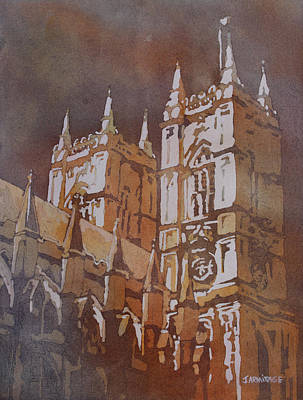 Westminster Abbey Painting - Shining Out Of The Rain by Jenny Armitage