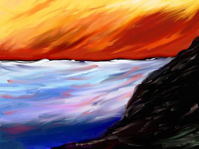 Painting - Shining Sea - Abstract Art by Eliza Donovan