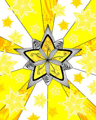 Drawing - Shining Star by E B Schmidt