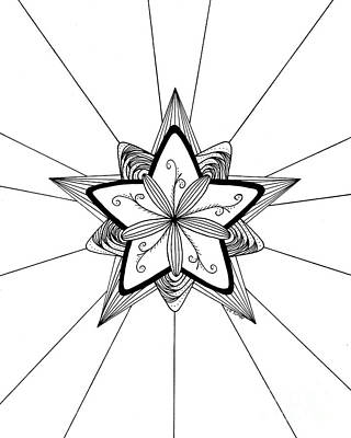 Drawing - Shining Star Original by E B Schmidt