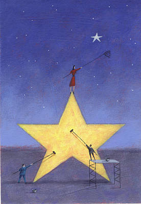 Net Painting - Shining Star by Steve Dininno