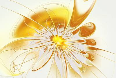 Blooming Digital Art - Shining Yellow Flower by Anastasiya Malakhova