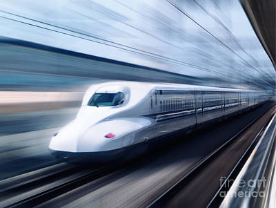 Nozomi Photograph - Shinkansen High Speed Bullet Train N700 Series by Oleksiy Maksymenko
