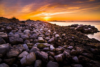 The Hamptons Photograph - Shinnecock Bay Rock Sunset by Ryan Moore