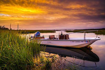 The Hamptons Photograph - Shinnecock Bay Sunset by Ryan Moore