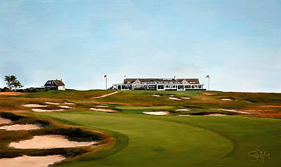 Scott Melby Painting - Shinnecock Hills Golf Club by Scott Melby