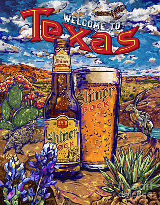 Painting - Shinner Bocktexas by Tim Gilliland