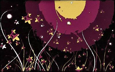 Painting - Shiny Black Night by Florian Rodarte