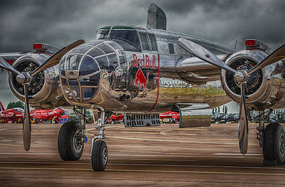 North American B-25j Mitchell Photograph - Shiny Mitchell by Gareth Burge Photography