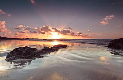 Photograph - Shiny Sunset by Beverly Cash