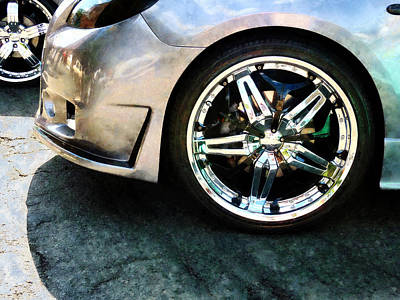 Photograph - Shiny Wheels by Susan Savad