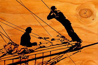 Fell Digital Art - Ship Ahoy by Mike Flynn