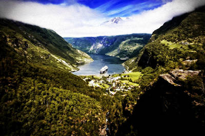 Photograph - Ship At The Fjords by Bill Howard