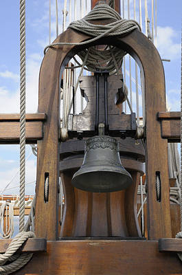 Photograph - Ship Bell And Capstan by Bradford Martin