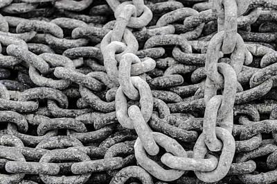 Photograph - Ship Chains  by Slavica Koceva