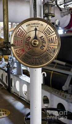 Photograph - Ship Control Telegraph by Steven Ralser