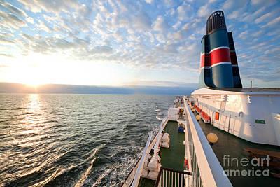 Photograph - Ship Deck by Michal Bednarek