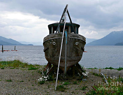 Photograph - Ship For Sale by Rachel Gagne