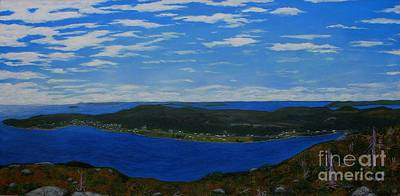 Ship Harbour From Sugarloaf Hill Art Print by Barbara Griffin