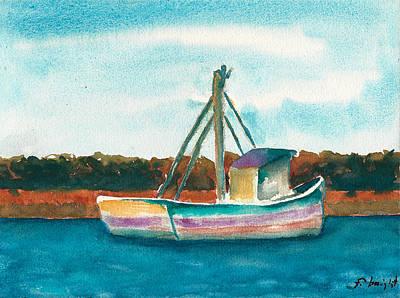 Ship In The Marsh Art Print
