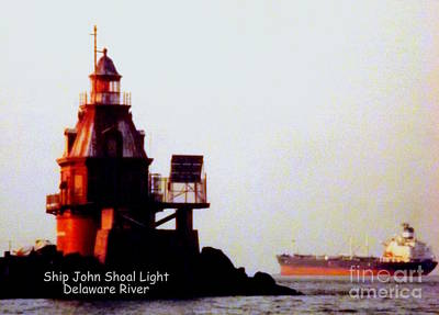 Photograph - Ship John Shoal Light by John Potts