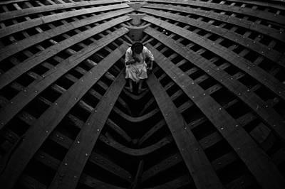 Carpenter Wall Art - Photograph - Ship Maker by Haitham Al Farsi
