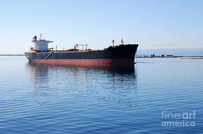 Photograph - Ship Near Port Angeles by Connie Fox
