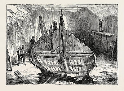 Found Art Drawing - Ship Of A Norseman Sea-king Found Near Sandefiord Norway by Norwegian School