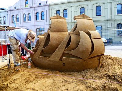 Ship Of Sand Art Print by Tony Crehan