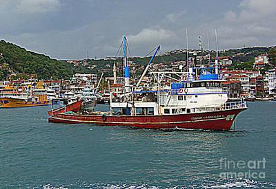 Photograph - Ship On The Bosporus Strait by Lou Ann Bagnall