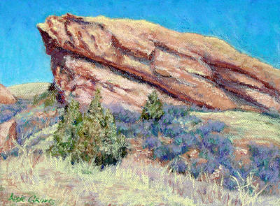 Landscape Painting - Ship Rock by Abbie Groves