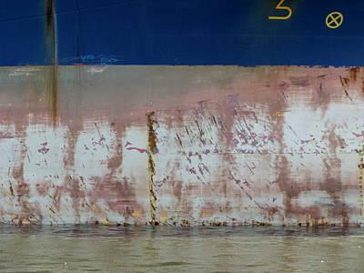 Photograph - Ship Rust 1 by Anita Burgermeister