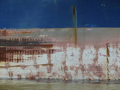 Photograph - Ship Rust 2 by Anita Burgermeister